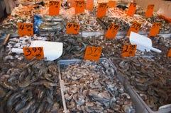 市场海鲜 库存照片