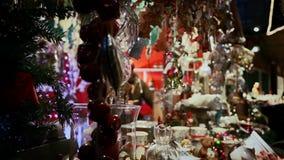 市场的圣诞节商店 影视素材