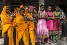 市场的部族女孩 库存图片