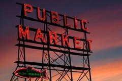 市场矛安排西雅图 免版税库存图片