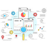 市场研究企业概念 免版税库存照片