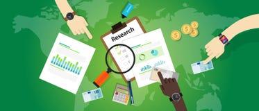 市场研究分析图酒吧饼商业运作产品信息焦点 免版税图库摄影