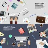 市场研究和创造性的队概念 免版税库存照片