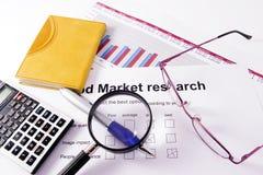 市场研究 免版税库存图片