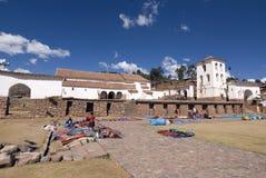 市场秘鲁人 免版税库存图片