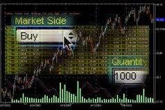 市场筛选股票交易 免版税图库摄影