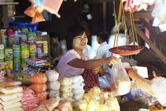 市场缅甸nyanung 免版税库存图片