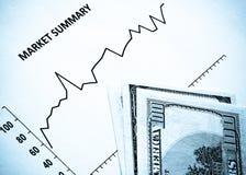 市场股票 库存图片