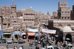 市场萨纳,也门 免版税图库摄影