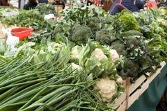 市场蔬菜萨格勒布 免版税库存图片