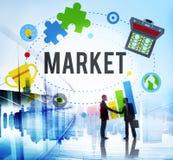 市场计划广告想法全球性成功烙记的概念 免版税库存图片