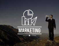 市场计划战略商业广告概念 图库摄影