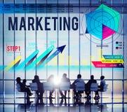 市场计划战略视觉广告概念 免版税库存照片