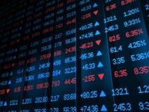 市场证券报价机 免版税库存照片