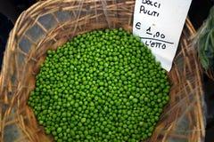市场豌豆 库存照片