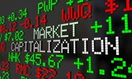 市场资本化公司价值股票价格断续装置 库存例证