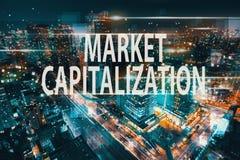 市场资本化有东京鸟瞰图  向量例证