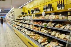市场超级市场内部 免版税图库摄影
