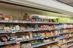 市场超级市场内部 库存图片