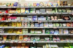市场超级市场内部 免版税库存图片