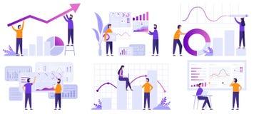 市场逻辑分析方法 财务预言、趋向展望和经营战略逻辑分析方法平的传染媒介例证集合 皇族释放例证