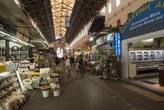 市场集市在干尼亚州 免版税库存图片
