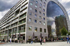 市场霍尔,鹿特丹,荷兰 免版税库存图片