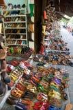 市场鞋子 免版税库存图片