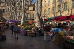 市场马尔什艾克斯普罗旺斯 免版税库存照片
