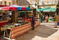 市场马尔什艾克斯普罗旺斯 免版税图库摄影