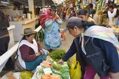 市场,库斯科省,秘鲁 库存图片