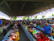 市场, Kamenets Podolskiy,乌克兰 免版税库存图片