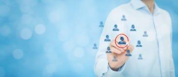市场细分化和领导 免版税库存图片