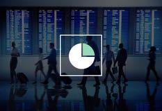 市场份额企业图表图竞争概念 图库摄影