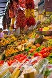 市场Boqueria在巴塞罗那 免版税库存照片