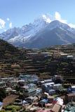 市场namche尼泊尔 库存图片