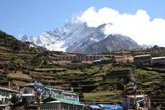 市场namche尼泊尔 免版税库存照片