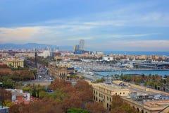 市巴塞罗那-西班牙-欧洲 库存图片