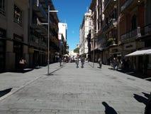 市巴里,南意大利, 06-12-2017 :通过Sparano看法  库存图片