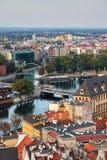 市弗罗茨瓦夫从上面 库存照片