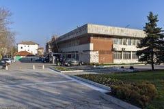 市惊人的全景哈斯科沃-从圣母玛丽亚,保加利亚的纪念碑 图库摄影