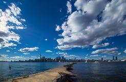 市惊人的夏天视图多伦多安大略加拿大 库存照片
