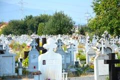市政公墓,布拉索夫, Transilvania 免版税库存图片