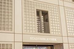 市政公立图书馆(Stadtbibliothek)斯图加特 图库摄影