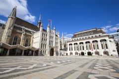 市政厅和市政厅美术画廊在伦敦 库存照片