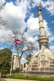 市政厅在一蓝天天在蒙加马利阿拉巴马,美国 图库摄影