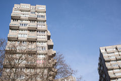 市政厅在大摩天大楼在伦敦 库存图片