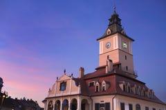 市政厅在布拉索夫 库存图片