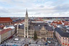 市政厅在慕尼黑 库存照片