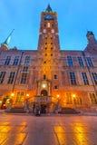 市政厅在格但斯克老镇  图库摄影